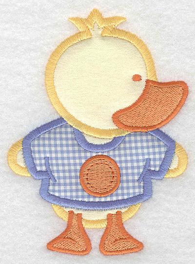 Embroidery Design: Duck double applique large3.63w X 5.00h