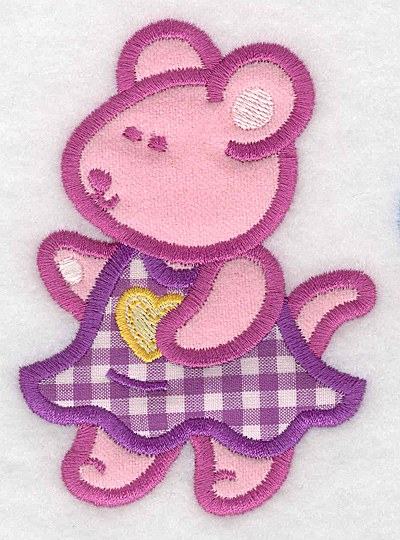 Embroidery Design: Mouse double applique small2.81w X 3.90h