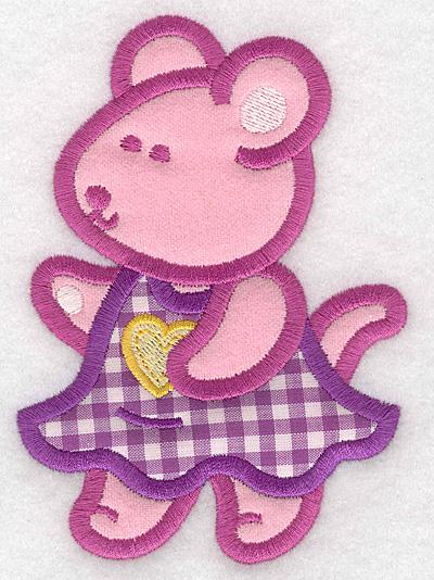 Embroidery Design: Mouse double applique large3.59w X 5.00h