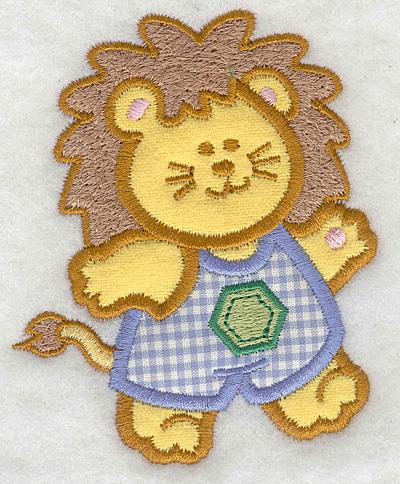 Embroidery Design: Lion double applique small3.21w X 3.90h