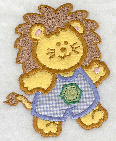 Embroidery Design: Lion double applique small4.11w X 5.00h