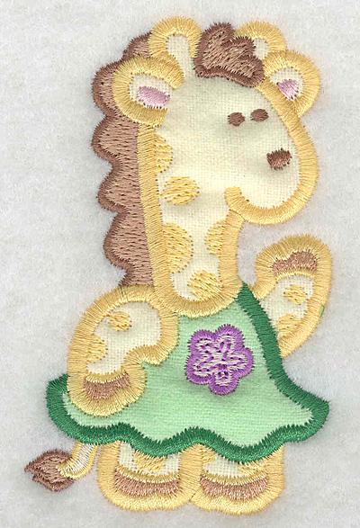 Embroidery Design: Giraffe double applique small2.40w X 3.90h