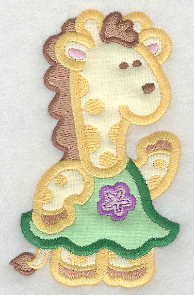 Embroidery Design: Giraffe double applique large 3.08w X 5.00h
