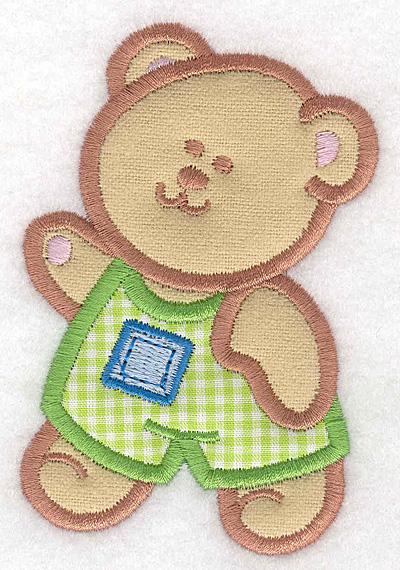 Embroidery Design: Teddy Bear boy double applique small2.63w X 3.90h