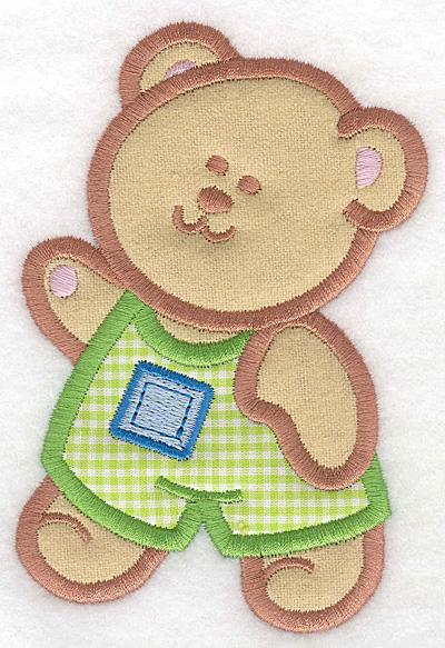 Embroidery Design: Teddy Bear boy double applique large3.36w X 5.00h