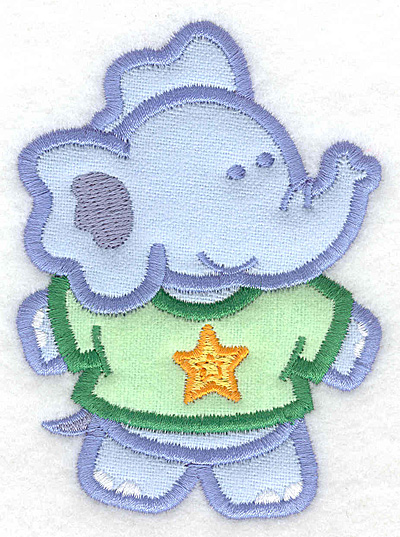 Embroidery Design: Elephant double applique small2.92w X 3.90h