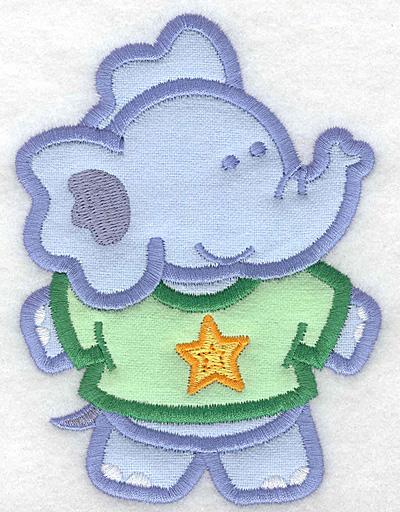 Embroidery Design: Elephant double applique large3.73w X 5.00h