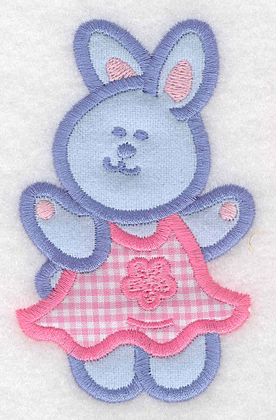 Embroidery Design: Bunny girl double applique small2.45w X 3.90h