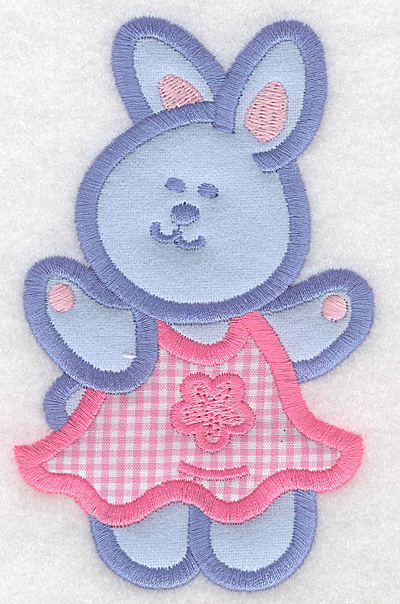 Embroidery Design: Bunny girl double applique large3.12w X 5.00h
