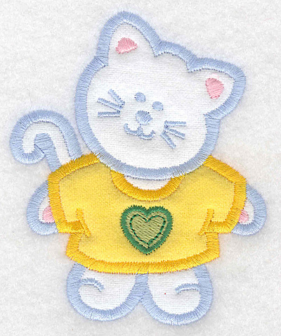 Embroidery Design: Kitten double applique small3.20w x 3.90h