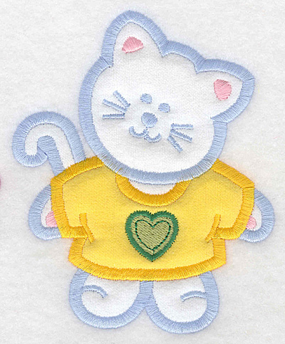 Embroidery Design: Kitten double applique large4.09w X 5.00h
