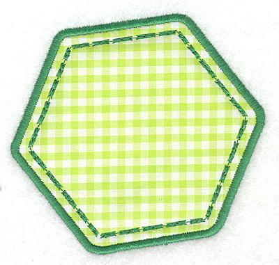 Embroidery Design: Hexagon applique small4.09w X 3.90h
