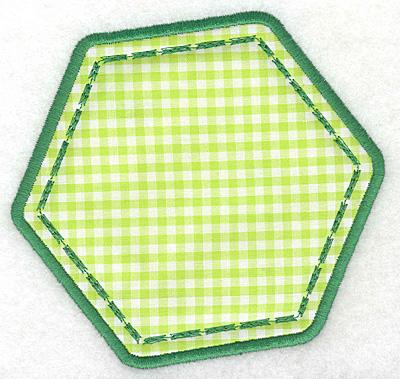 Embroidery Design: Hexagon applique large5.23w X 5.00h