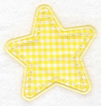 Embroidery Design: Star applique small3.74w X 3.90h