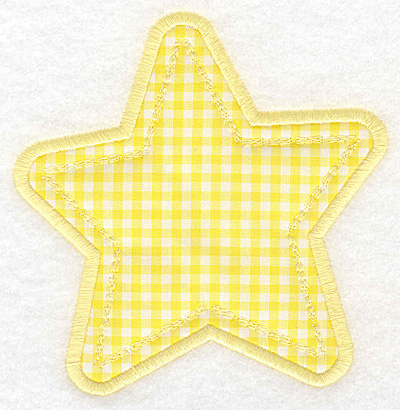 Embroidery Design: Star applique large4.78w X 5.00h