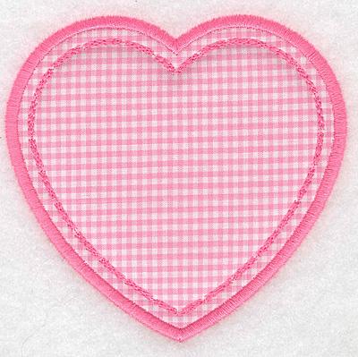 Embroidery Design: Heart applique small4.05w X 3.90h