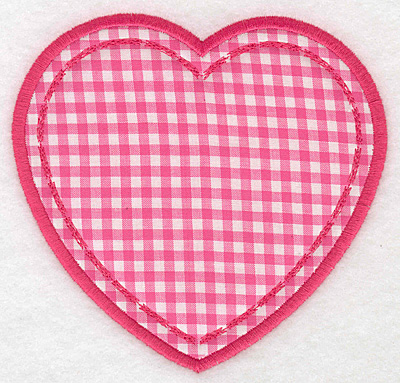Embroidery Design: Heart applique large5.19w X 5.00h