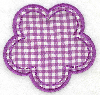 Embroidery Design: Flower applique small4.09w X 3.90h