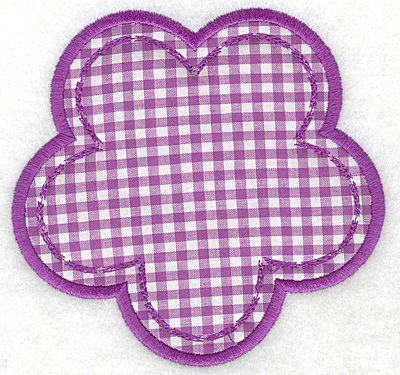 Embroidery Design: Flower applique large5.23w X 5.00h