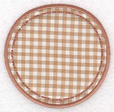 Embroidery Design: Circle applique small3.81w x 3.90h