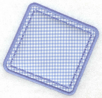 Embroidery Design: Rectangle applique small4.03w X 3.90h