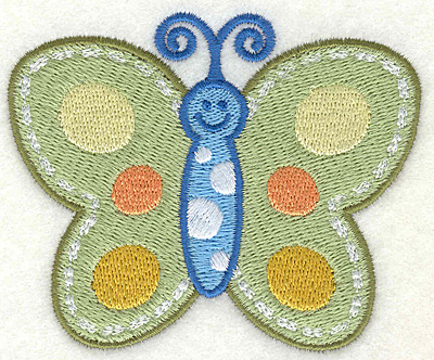"""Embroidery Design: Butterfly  3.43"""" x 2.81"""""""