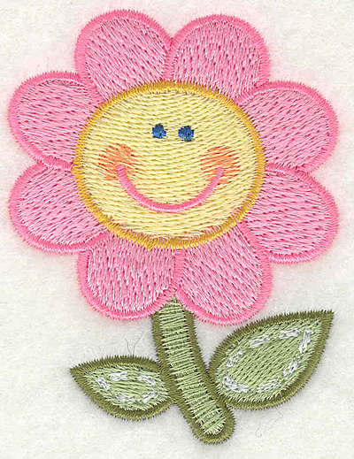 """Embroidery Design: Flower  2.25"""" x 2.93"""""""