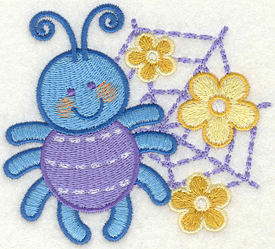 """Embroidery Design: Spider on a Web  3.81"""" x 3.5"""""""