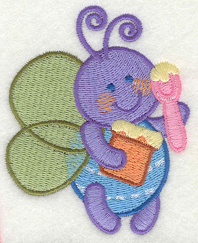 "Embroidery Design: Bee with Honey  2.81"" x 3.43"""