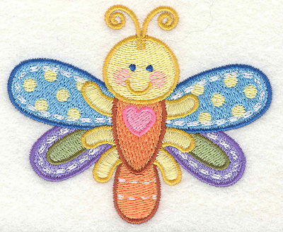 """Embroidery Design: Dragon Fly  3.87"""" x 3.18"""""""