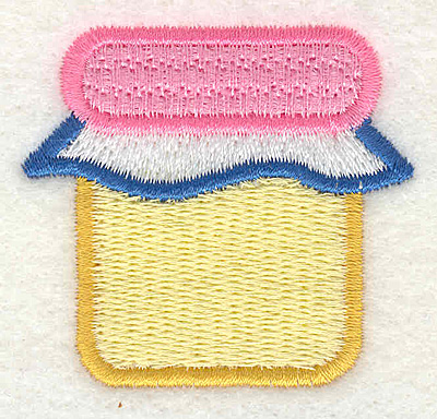 """Embroidery Design: Yellow and Pink Jar  1.93"""" x 1.81"""""""