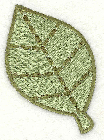 """Embroidery Design: Leave  2.06"""" x 2.93"""""""