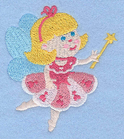 "Embroidery Design: Fairy A2.98"" x 2.60"""