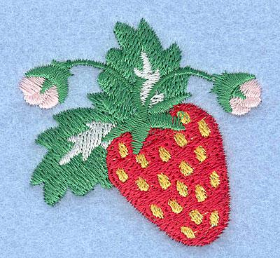 "Embroidery Design: Strawberry2.00"" x 2.15"""