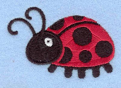 """Embroidery Design: Ladybug2.70"""" x 3.06"""""""