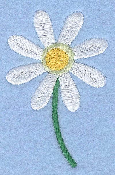 "Embroidery Design: Daisy2.94"" x 1.89"""