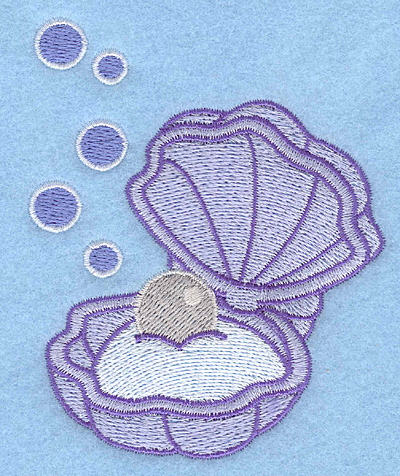 Embroidery Design: Pearl in oyster3.18w X 3.90h