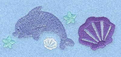 Embroidery Design: Mini dolphin3.48w X 1.38h