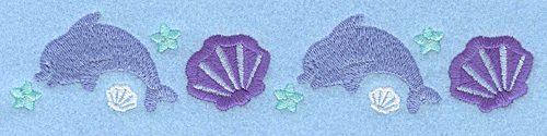 Embroidery Design: Mini dolphin border7.00w X 1.38h