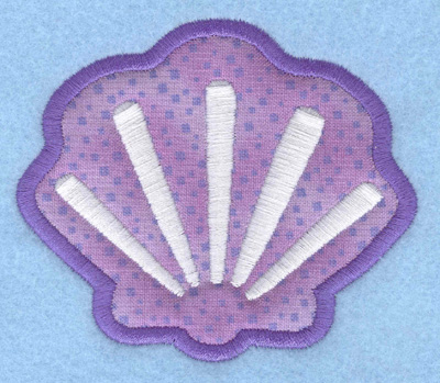 Embroidery Design: Oyster applique3.50w X 2.98h