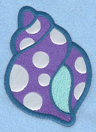 Embroidery Design: Seashall A applique2.83w X 3.90h