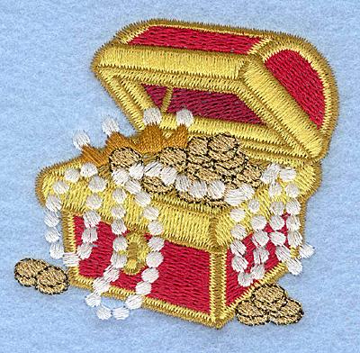 Embroidery Design: Treasure chest2.86w X 2.78h