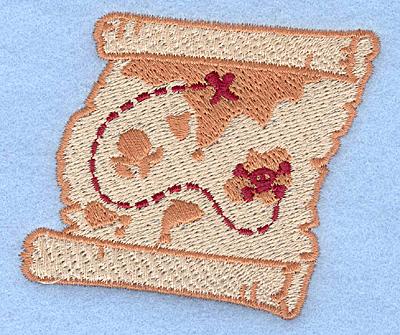 Embroidery Design: Treasure map3.36w X 2.86h