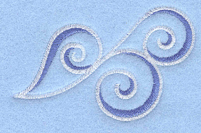 Embroidery Design: Waves3.00w X 1.90h