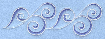 Embroidery Design: Waves border5.57w X 1.90h
