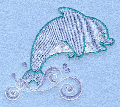 Embroidery Design: Dolphin 3.32w X 3.00h