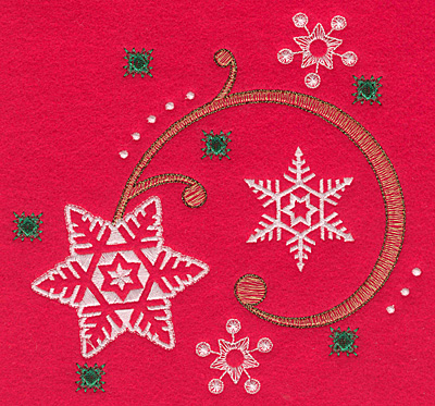 Embroidery Design: Snowflake swirl A large 6.49w X 6.15h
