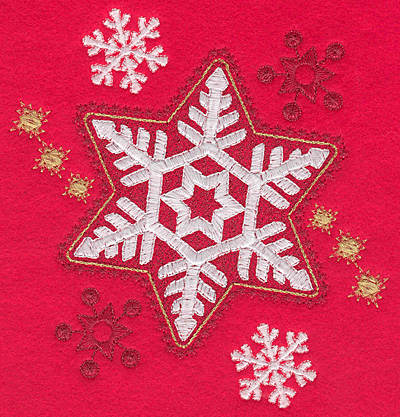 Embroidery Design: Snowflakes E large 5.94w X 6.63h