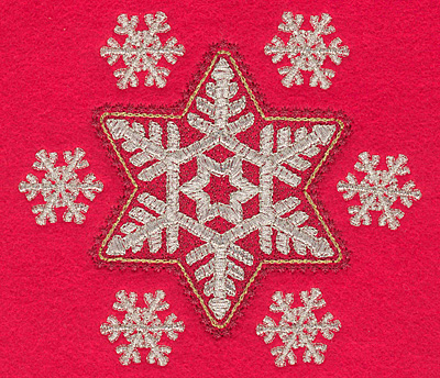 Embroidery Design: Snowflakes F5.03w X 4.46h