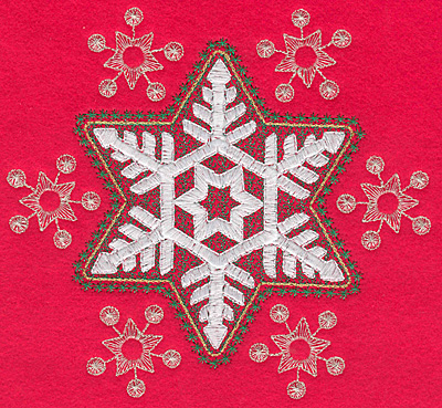 Embroidery Design: Snowflakes G6.49w X 6.01h